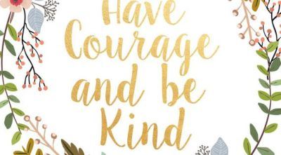 Have Courage And Be Kind Printable Art by PaperStormPrints on Etsy | Girls Bedrooms | Pinterest ...