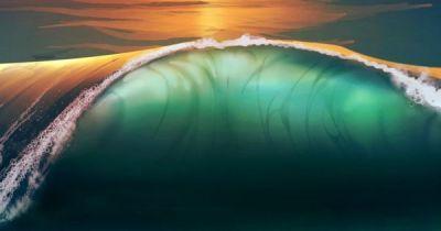 ~~Sunset beach sea waves   WallpapersCraft~~   Water ~ Sea, Sand, Surf & Foam   Pinterest   Sea ...