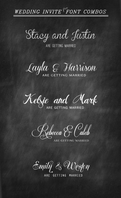 17 Best ideas about Wedding Invitation Fonts on Pinterest ...