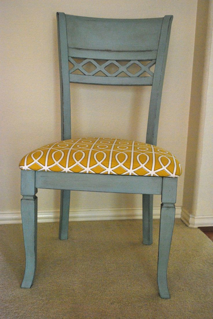 kitchen chairs kitchen chairs I painted my kitchen chairs with Annie Sloan chalk paint Duck Egg Blue and