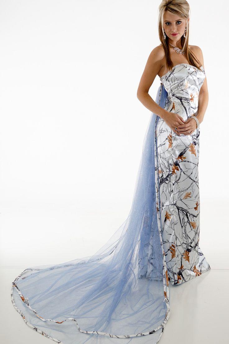 wedding dresses blue camo wedding dresses Elsa Frozen Camo Princess Dress White Snowfall True Timber and Blue Glitter Net