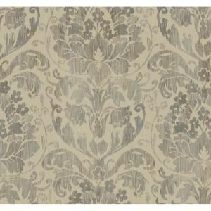 60.75 sq. ft. Stria Damask Wallpaper-DC1329 at The Home Depot | Decor | Pinterest | Home ...