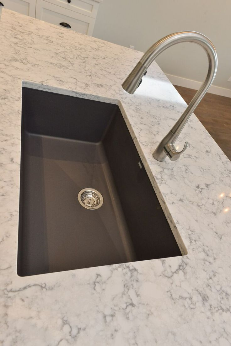 granite kitchen sinks colonial kitchen sink Blanco Silgranite Kitchen Sink in Cidner with Kohler Simplice faucet and Quartz counters in Rococo