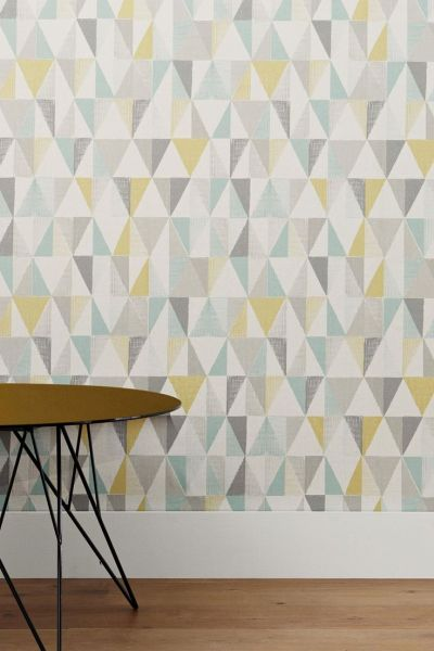 17 Best ideas about Geometric Wallpaper on Pinterest | Graphic wallpaper, Living room interior ...