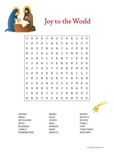 Printable Christmas Word Search For Middle School - adult awesome learning french worksheets ...