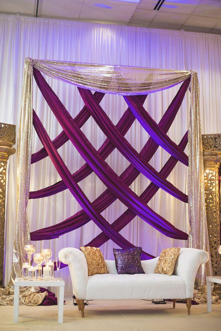 royal purple wedding purple and gold wedding Royal Purple and Gold Indian Wedding Washington DC Purple and gold wedding reception