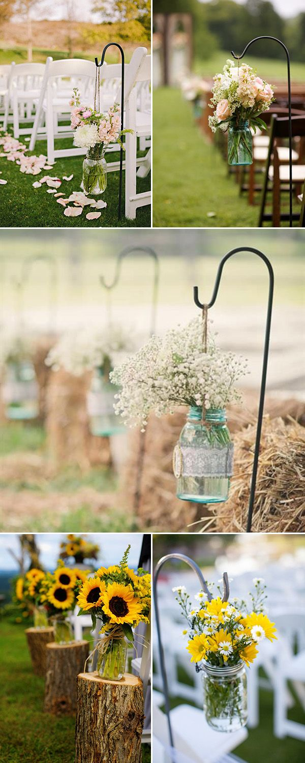 country wedding centerpieces rustic wedding centerpieces rustic outdoor wedding aisle decorations with mason jars and flowers