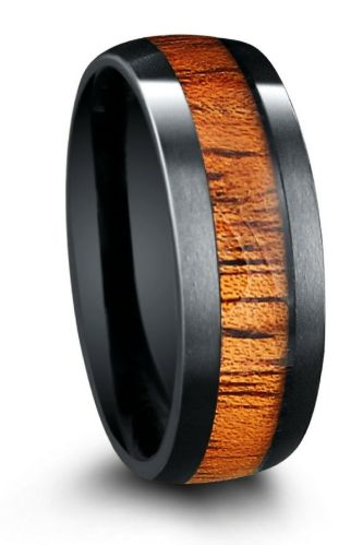 titanium and wood rings mens wood wedding bands Bethlehem Olivewood Inlay Wooden Ring Lined With Titanium