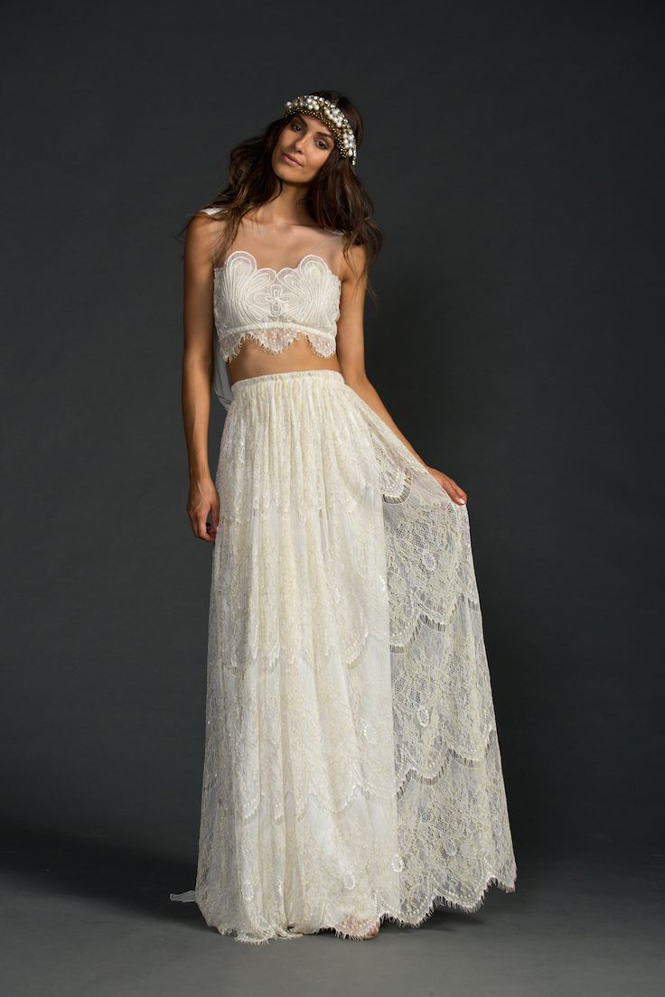 the dress and the ring two piece wedding dress The stunning Grace Loves Lace Avril two piece wedding dress Made from the most