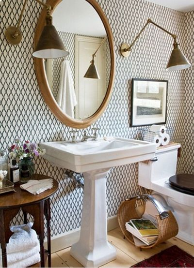 1000+ ideas about Small Bathroom Wallpaper on Pinterest | Powder rooms, Bathroom wallpaper and ...