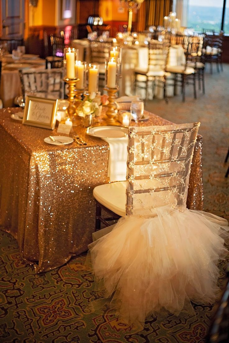 wedding table covers tablecloths for wedding Lace and Tulle chair cover sequin tablecloth sweetheart table All that glitters is