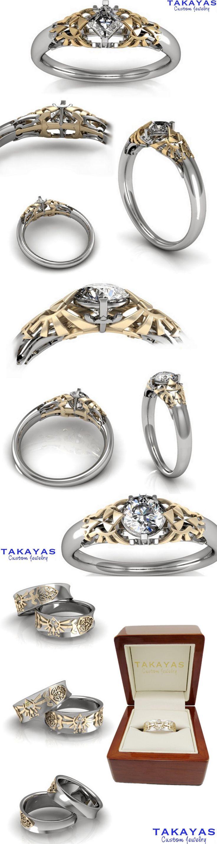 nerd engagement ring hello kitty wedding ring Legend of Zelda Wedding Collection by Takayas Custom Jewelry http pinterest