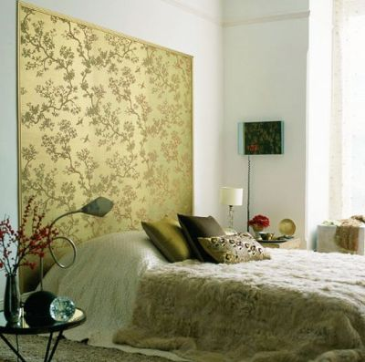Wallpaper panel Behind the Bed | Wallpaper I love !! | Pinterest | Fabrics, Fur and Chinoiserie