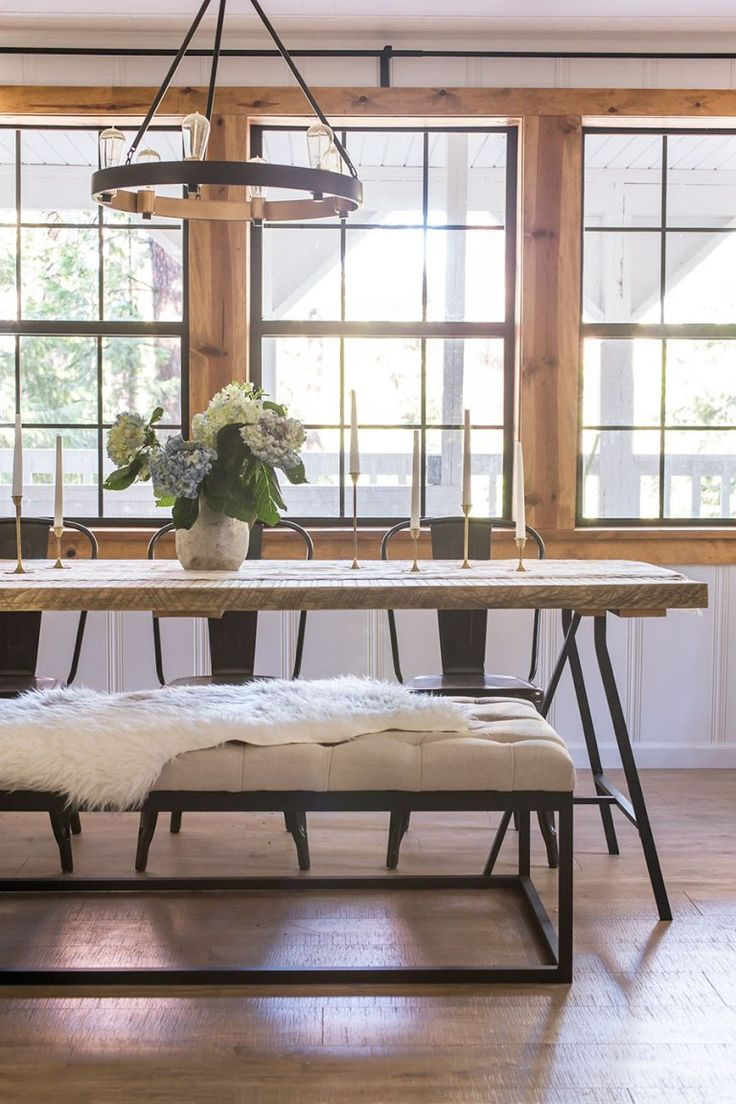 table with bench bench for kitchen table Gorgeous wood and metal dining table with metal chairs and bench farm table hydrangea pine window