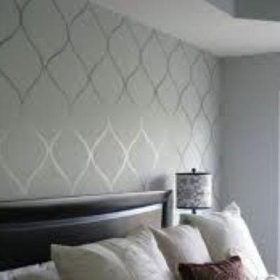 high gloss paint design over flat paint walls (same color) | Home Decor | Pinterest | Flats ...
