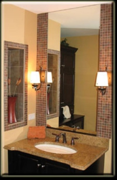 17 Best images about Tile work behind bathroom mirror on Pinterest | The mirror, Vanities and Tile