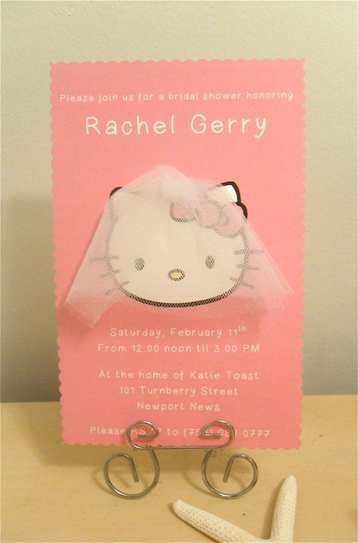 hello kitty wedding hello kitty wedding ring Hello Kitty Bridal Shower Invitations I should not like these but I do