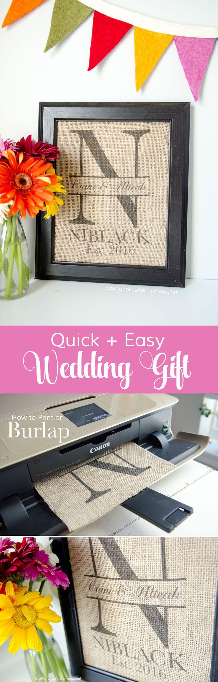 diy wedding gifts cheap wedding gifts DIY Monogram Wedding Gift Idea