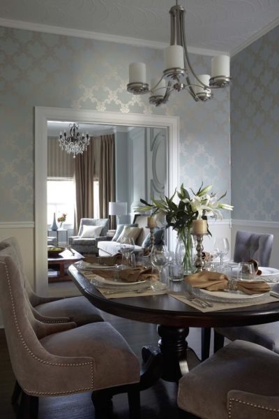 25+ Best Ideas about Dining Room Wallpaper on Pinterest | Classic dining room, Classic dining ...