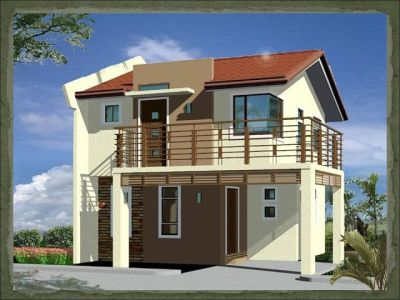 A two-storey, 2-bedroom home fitting in a 75-square meter ...