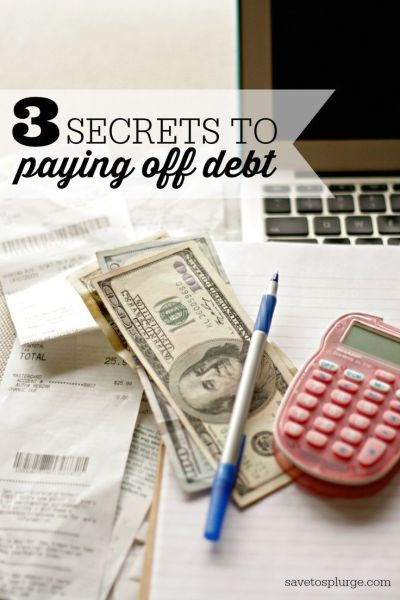 3 Secrets to Paying Off Debt | The secret, Student loans and Student loan debt