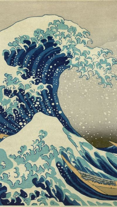 TAP AND GET THE FREE APP! Art The Great Wave off Kanagawa Blue White Hokusai Japan Mount Fuji ...