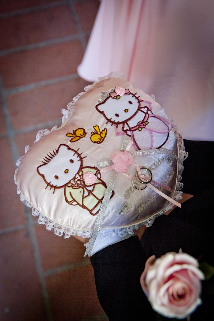 hello kitty wedding hello kitty wedding ring Our Hello Kitty themed wedding the Ring Pillow