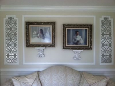 17 Best images about Wall Moldings on Pinterest | Framed wallpaper, Velvet couch and Chairs