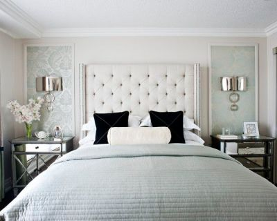 Add Dimensions And Perspective To Your Bedroom With Mirrored Bedside Tables   See more ideas ...