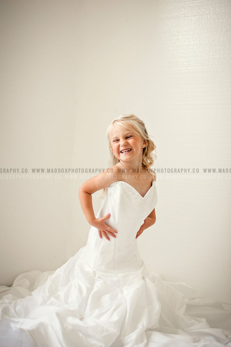 in moms wedding dress session wedding dresses for girls How totally cute is this little girl in her mommy s wedding dress These will