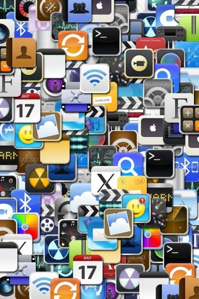 iPhone icon collage art ihone wallpaper busy graphics background | iphone wallpapers 2 Lock ...