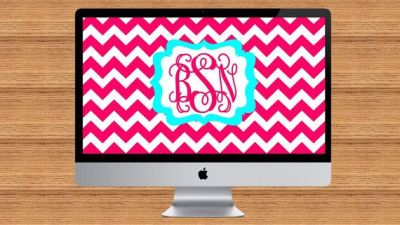 Chevron Print Monogram Desktop Wallpaper | scrapbooking | Pinterest | Desktop wallpapers ...