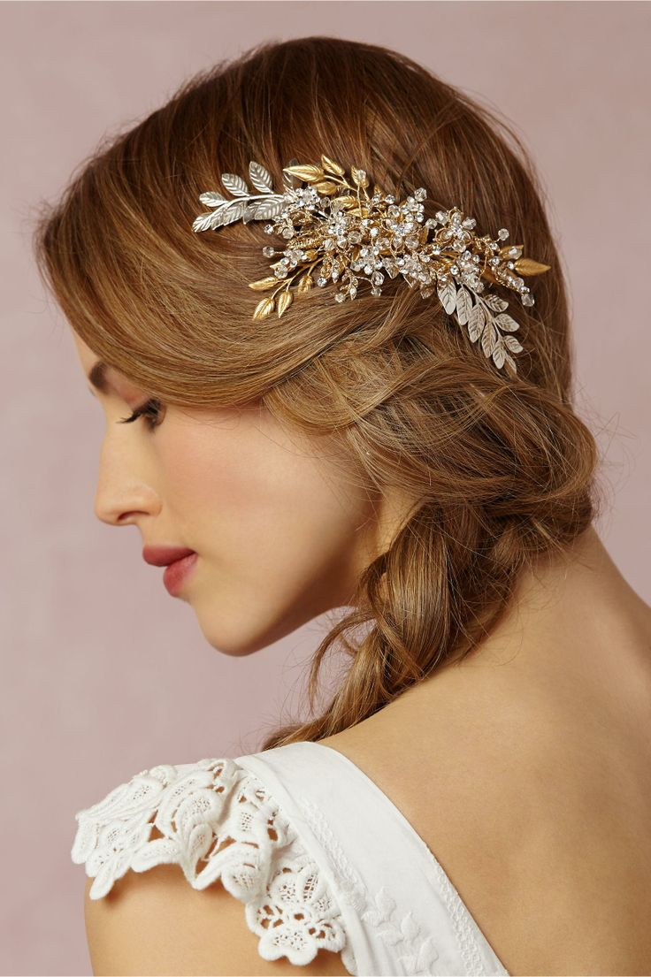 wedding hair pieces hair pieces for wedding Hand wired piece Eden Comb by Portobello at BHLDN