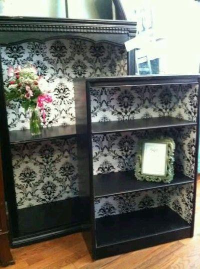 Best 25+ Wallpaper shelves ideas on Pinterest | Diy bedroom decor, Refurbished furniture and ...
