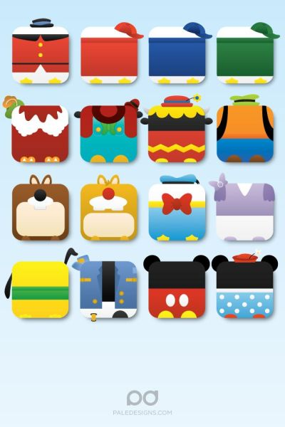 iPhone 4 | disney icon wallpaper by paledesigns | Fun stuff | Pinterest | Disney, Apps and ...