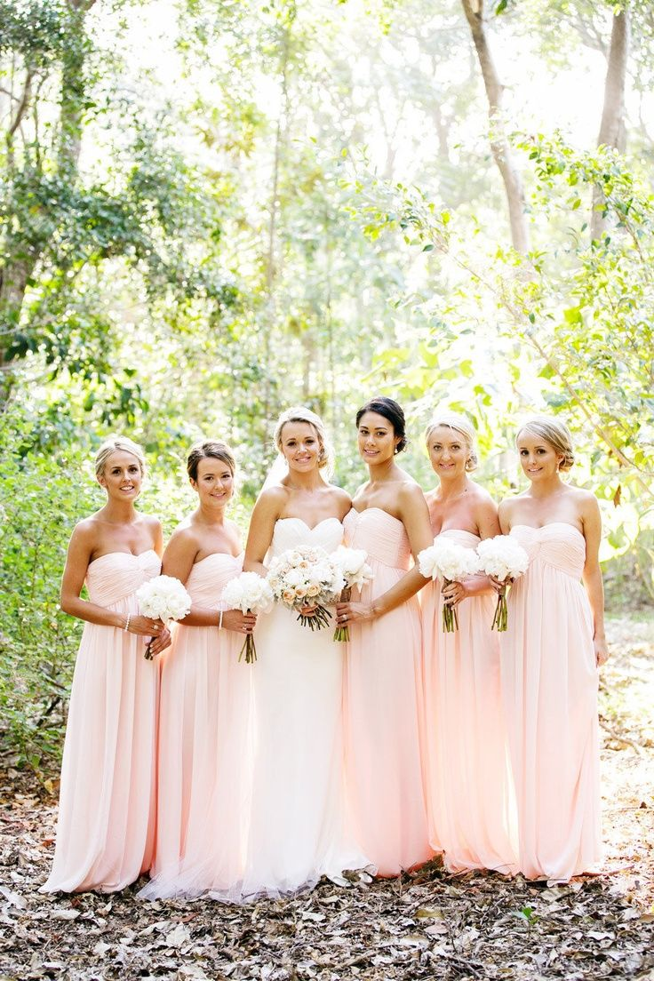 pale pink bridesmaids blush colored wedding dress Blush pink bridesmaid dresses i absolutely love these colours long is soo