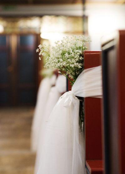 Simple wedding church decor - The Norwegian DIY Wedding ...