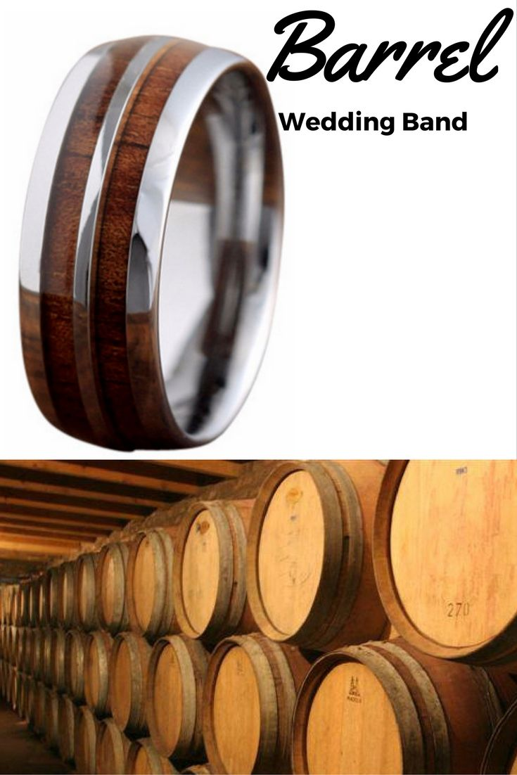 wood wedding bands wood wedding band 8mm Silver Tungsten Koa Wood Ring with Tungsten Stripe