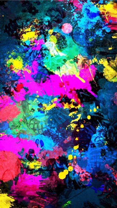 Tap image for more beautiful iPhone background! Colorful Splatter Splash - @mobile9 | Wallpapers ...