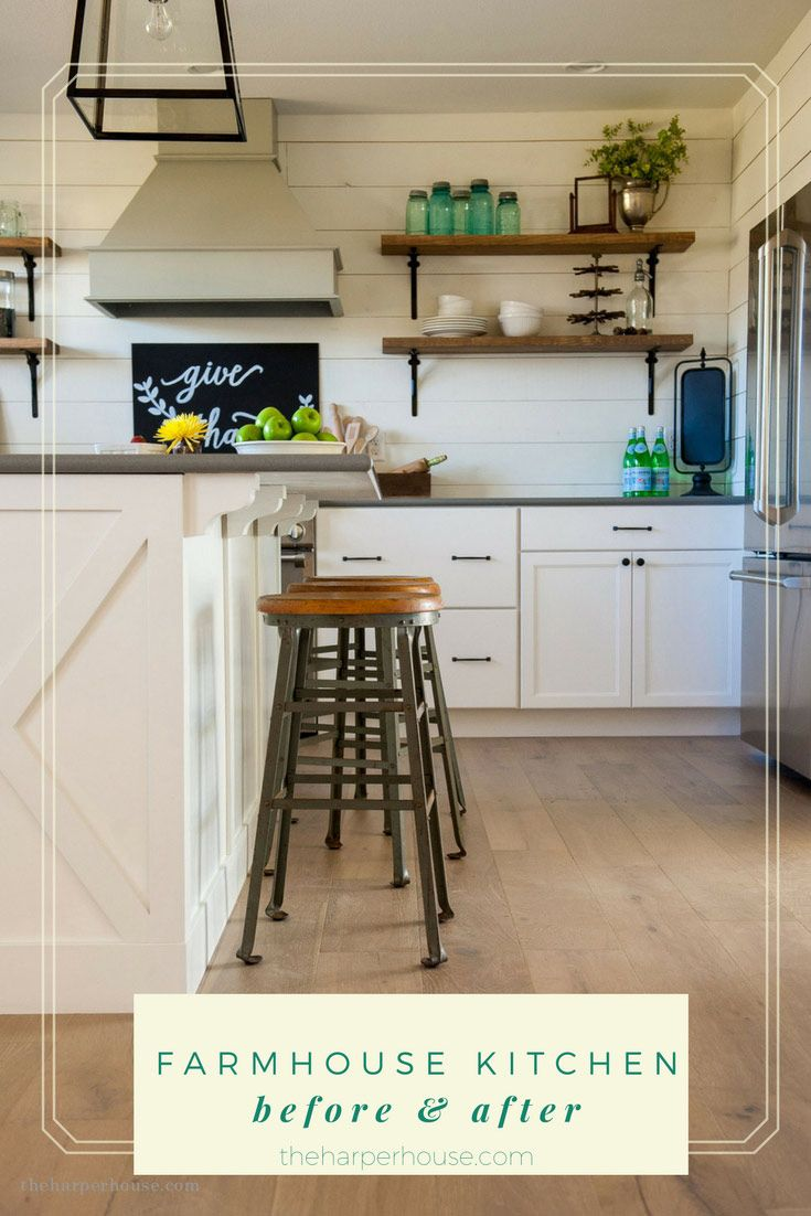 menards kitchen cabinets kitchen cabinets menards DIY Farmhouse Kitchen before and after featuring stock cabinets from Menards