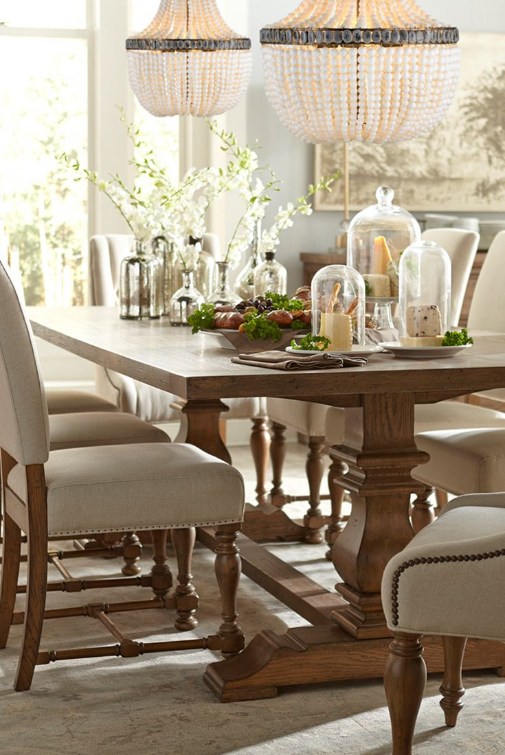 rustic gets refined by havertys furniture havertys kitchen tables The Havertys Avondale dining collection is rustic and chic with it s vintage oak finish table and
