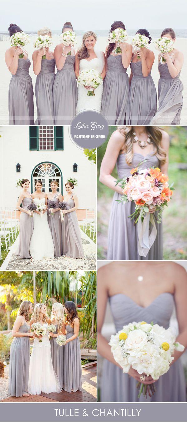 lilac wedding dress Top 10 Pantone Colors for Spring Summer Bridesmaid Dresses Wedding Grey and Spring