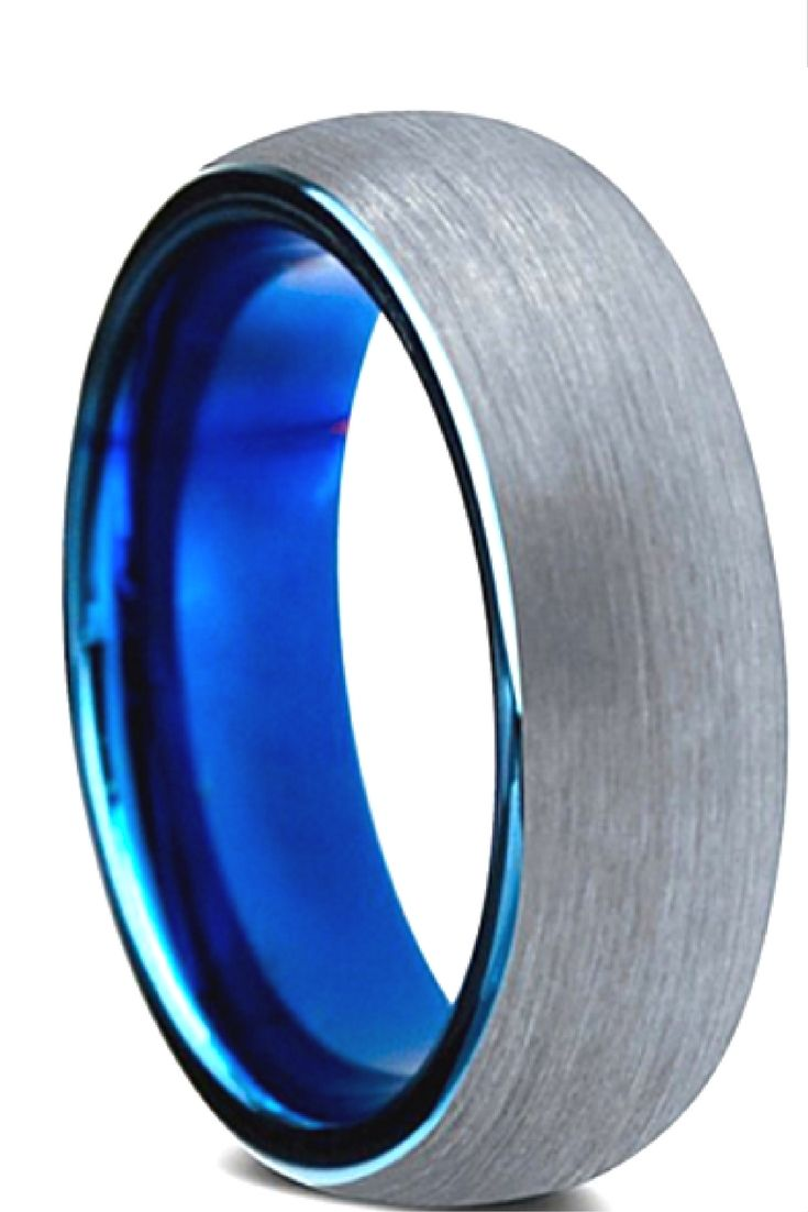 tungsten wedding rings blue tungsten wedding bands Mens 8mm tungsten wedding band designed with a brushed finish and a high blue polish