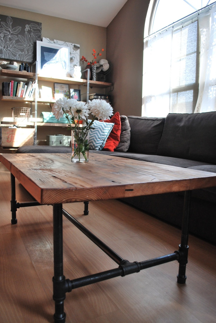 butcher block table tops industrial kitchen table Industrial Pipe Leg Dining Table 00 via Etsy