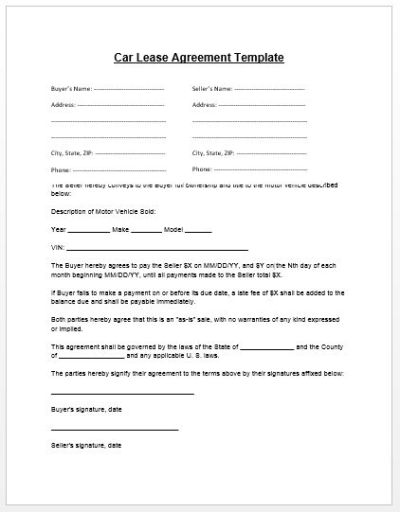 Loan Agreement Template | Microsoft Word Templates - car payment contract template | Real State ...
