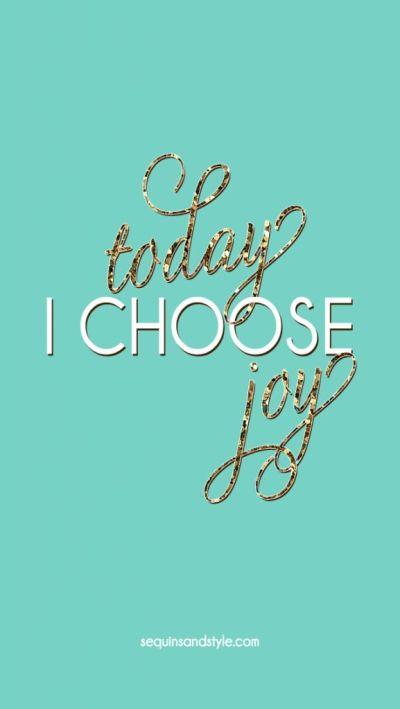 Emerald glitter Today I Choose Joy iphone phone wallpaper background lock screen   Law of ...