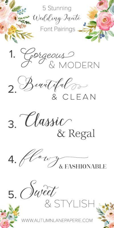 Best 25+ Wedding fonts ideas on Pinterest