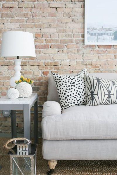 Faux Brick Wallpaper. Living Room Wallpaper. Room Inspiration. Rustic Inspired. | Chelsea Lane ...