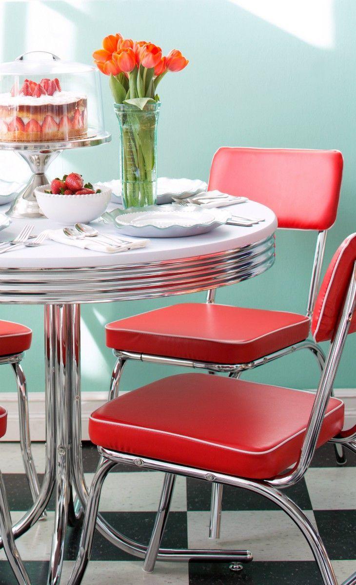 retro kitchen tables retro kitchen table sets Decora o cozinha retr ou vintage confira ideias incr veis Kitchen Table ChairsTable