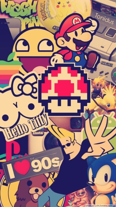 I Love The 90s Smartphone Wallpaper #Vintage #Smartphone #Wallpaper | •Background•phone•tablet ...